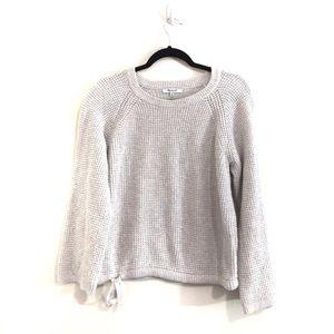 Madewell Wafflestich Drawstring Pullover Sweater